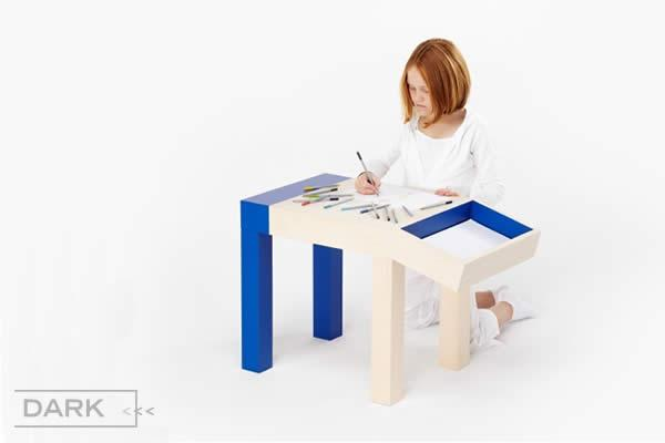 ANIMAL is a funky designer children's desk that will thrill and inspire. ANIMAL represents a tiny part of all the unique designer furniture available from Dark.be