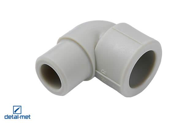Polypropylene (PP-R) type 3 nipple elbow 90° Diameters available: 16, 20, 25, 32, 40