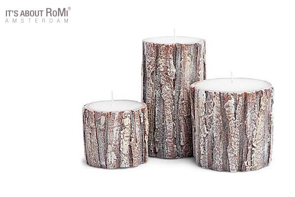 Oak wood Candles to light up your habitat, giving your home a warm glow