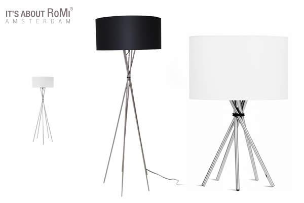 Tripod lamps will add charm and class to any home interior