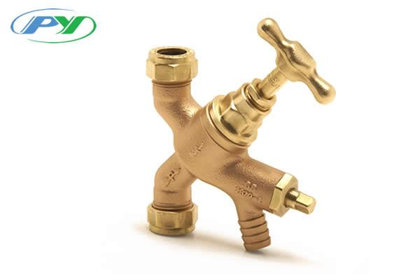 Stopvalve with Draincock (BS 1010) Crutch Top Copper x copper