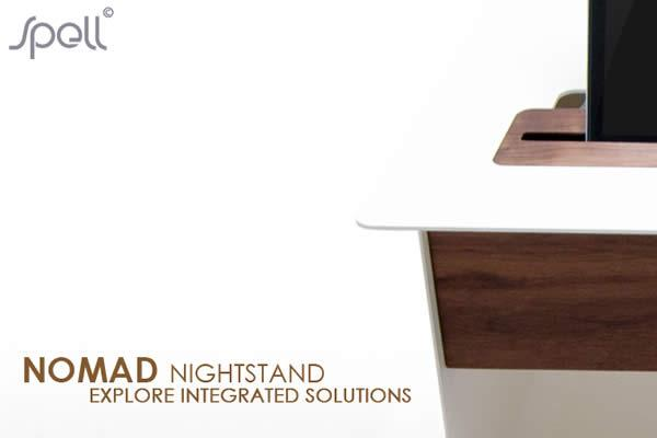 NOMAD NIGHTSTAND bedside table keeps your handheld devices in one place at bedtime to be ready and charged for the next day. The Nomad Nightstand have extra compartments and store all cables and chargers out of sight and charged from one main AC supply.