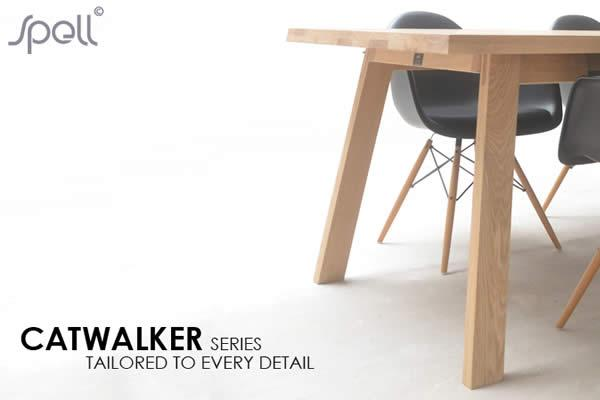 The CATWALKER wooden oak table, inspired by the catwalk at a fashion show, becomes your stage for living and for all your daily activities. Standard stain shades are: natural, whitewash, gray and blackwash. Tailored sizes and combinations are possible on request.