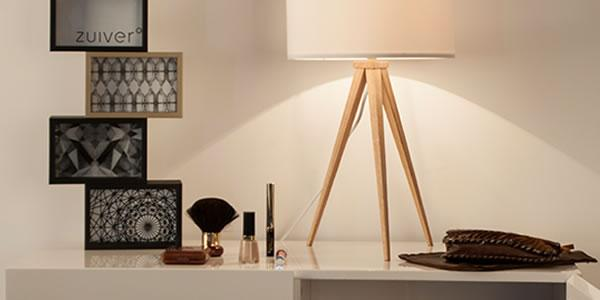 Elegant and long thin legs the Tripod Wood is a 21st century answer to the good old shaded-lamp. Just pick your colour and light up that dark corner in the room.